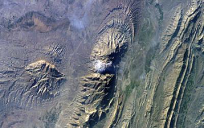 Satellite Image of Iran's Zagros Mountains