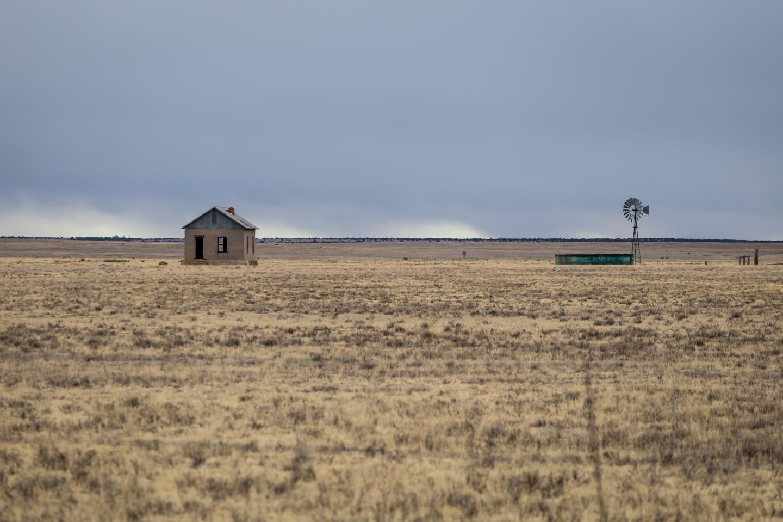 Drought-stricken farmland in New Mexico