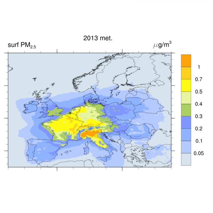 Concentration of Fine Particulate Matter Due to Excess NOx Emissions