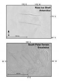 Comparing Ross Ice Shelf to Enceladus