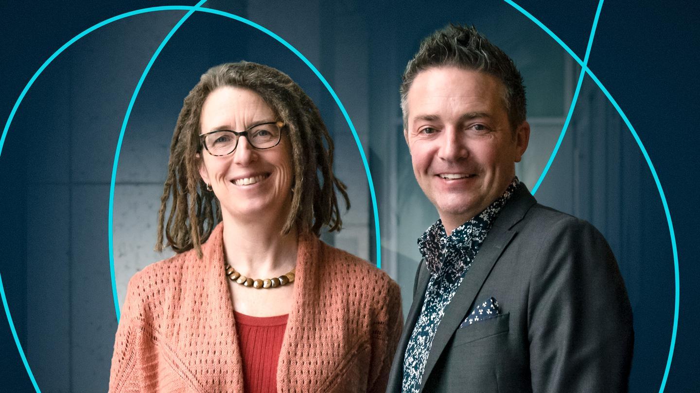 Gladstone Scientists Katie Pollard and Benoit Bruneau