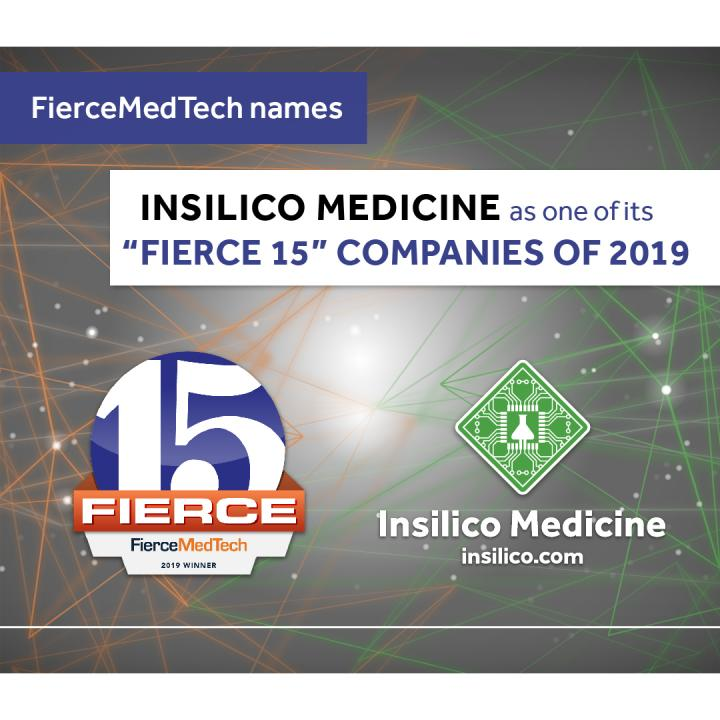 FierceMedTech Names Insilico Medicine as One of Its 'Fierce 15' Companies of 2019