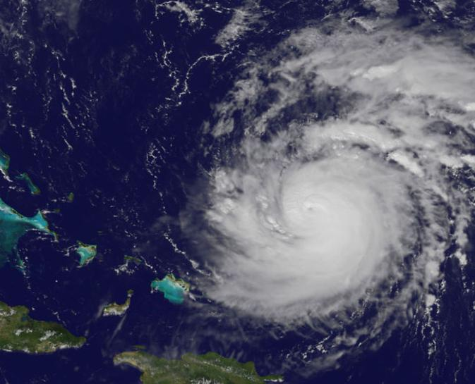 Hurricane Gonzalo Seen by NOAA's GOES-East Satellite