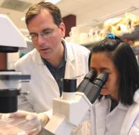 Patrick Wilson and Study Co-author Nai-Ying Zheng, University of Chicago Medicine