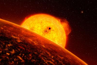 Sunrise over CoRoT-7b, the Smallest-known Exoplanet