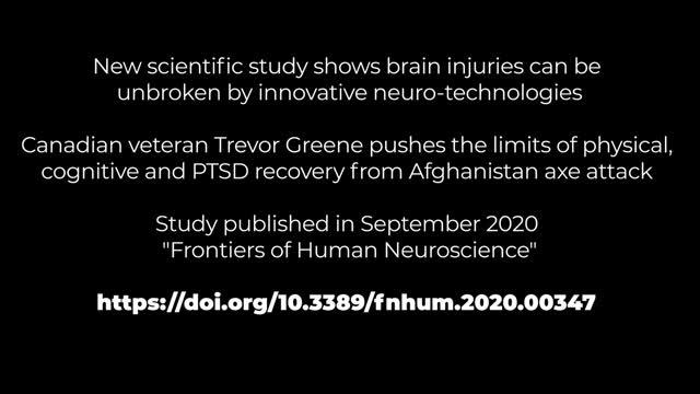 Media B-roll: Canadian veteran Trevor Greene continues his recovery from brain injury using innovative brain technologies