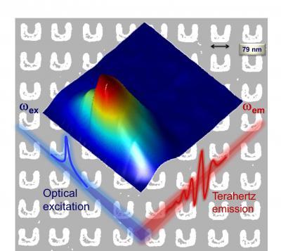 Terahertz Waves from Metamaterials