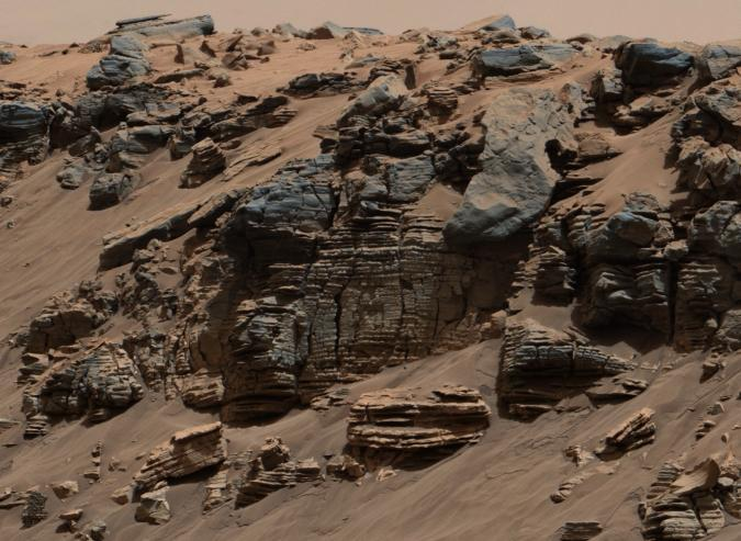 Sedimentary Signs Martian Lakebed