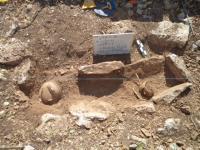 Maya cist burial