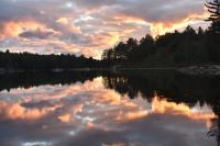 Boundary Lake sunset