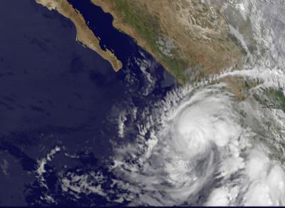 GOES-11 Satellite Image of Hurricane Beatriz on June 21