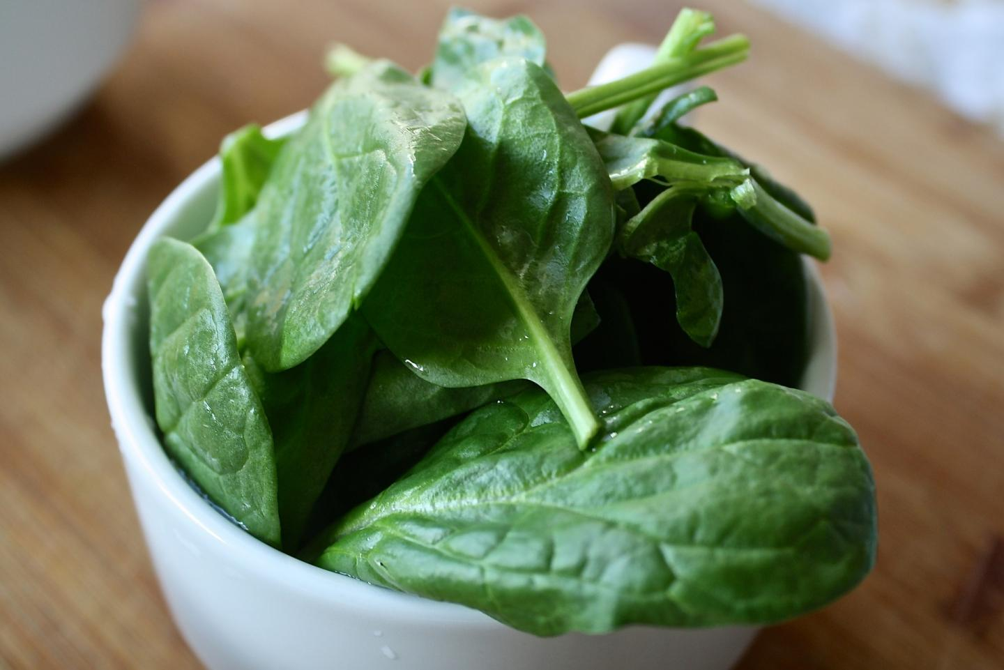 Cup of Spinach Leaves