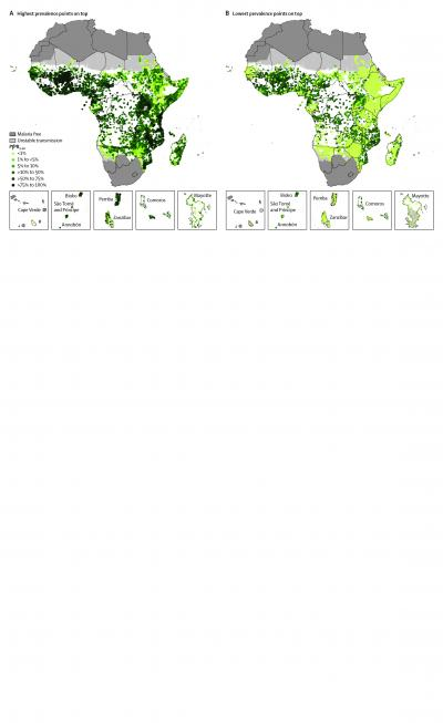 Prevalence Points of Malaria Parasites in Africa 1980-2012