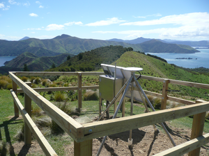 Continuous GPS sites in New Zealand