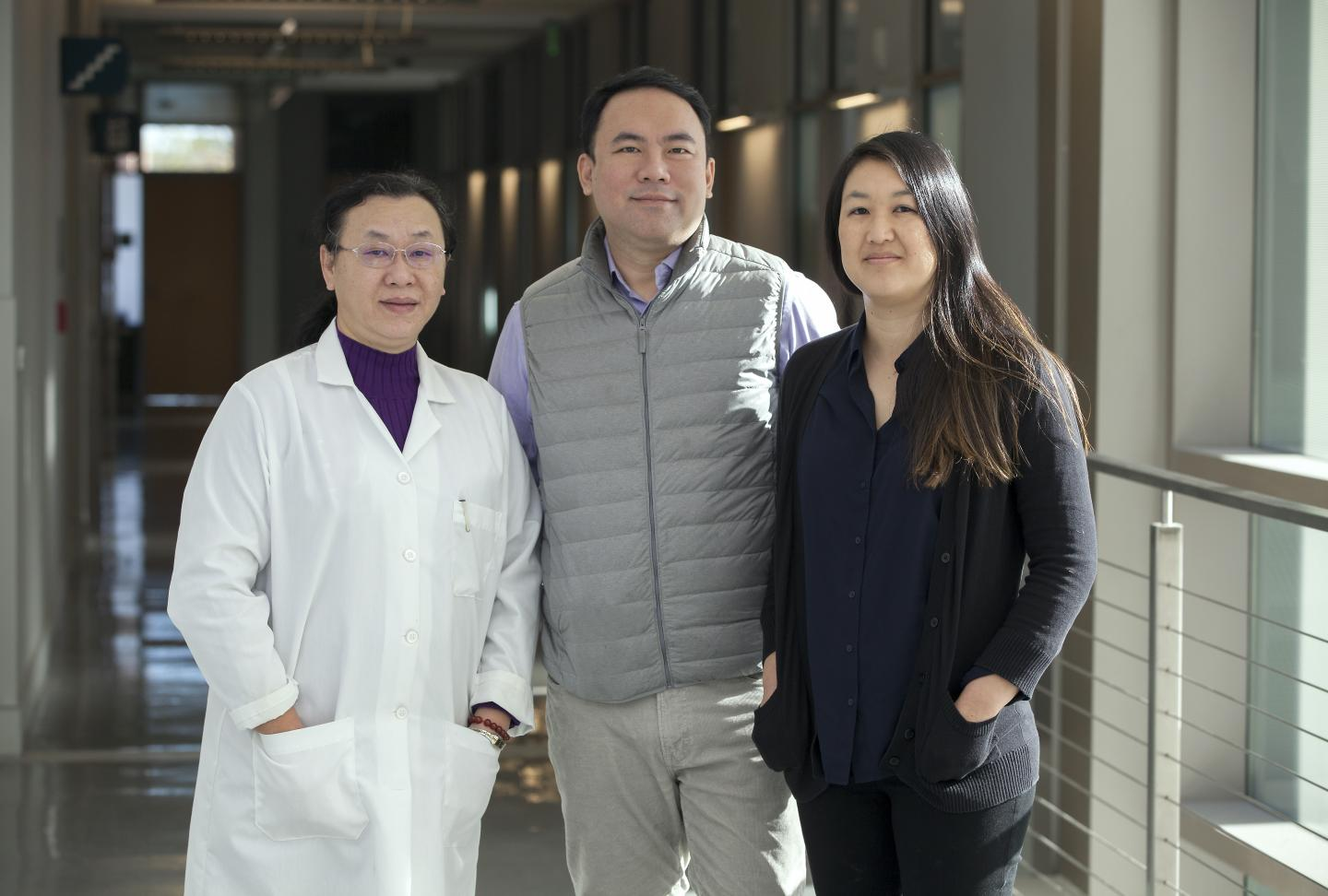 Dr. Zhi Zhong of MUSC  and Dr. James Chou and Dr. Sherine Chan, two of the founders of Lydex Pharmaceuticals