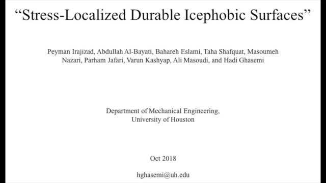 Stress-localized Icephobic Surfaces