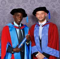 Eliud Kipchoge and Professor Andrew Jones