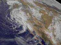 NOAA's GOES-West Infrared Look at Pacific Storm