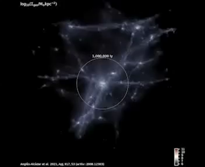 Zooming into simulated galaxy
