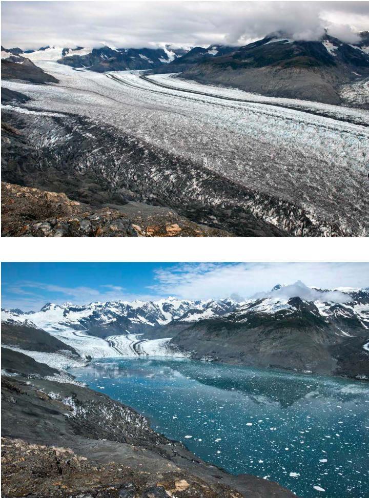 Retreat of the Columbia Glacier, Alaska, USA