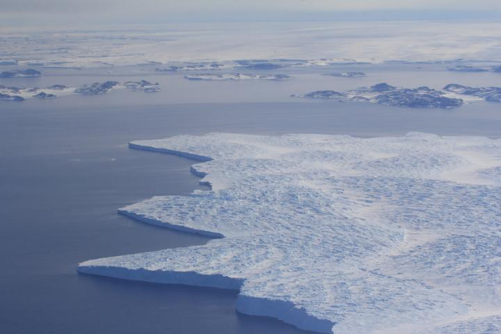 Floating Ice Tongue in Antarctica