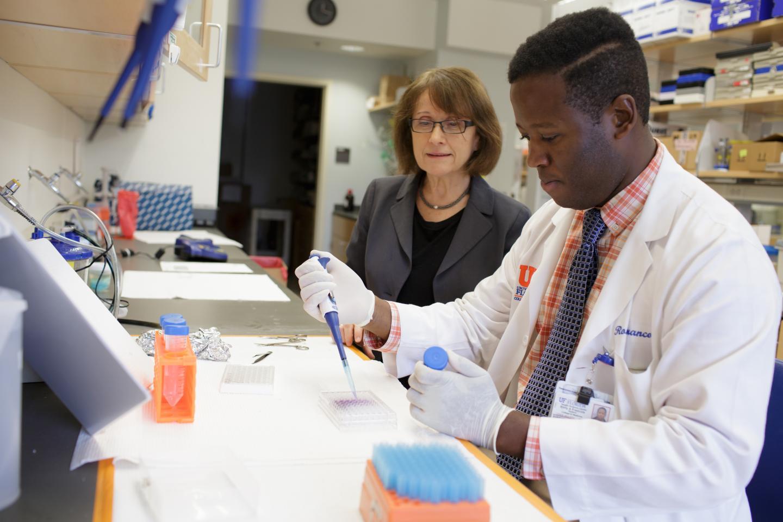 Maria Zajac-Kaye, Ph.D., and Rony François, University of Florida