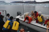 Deployment of the ocean-bottom seismometer