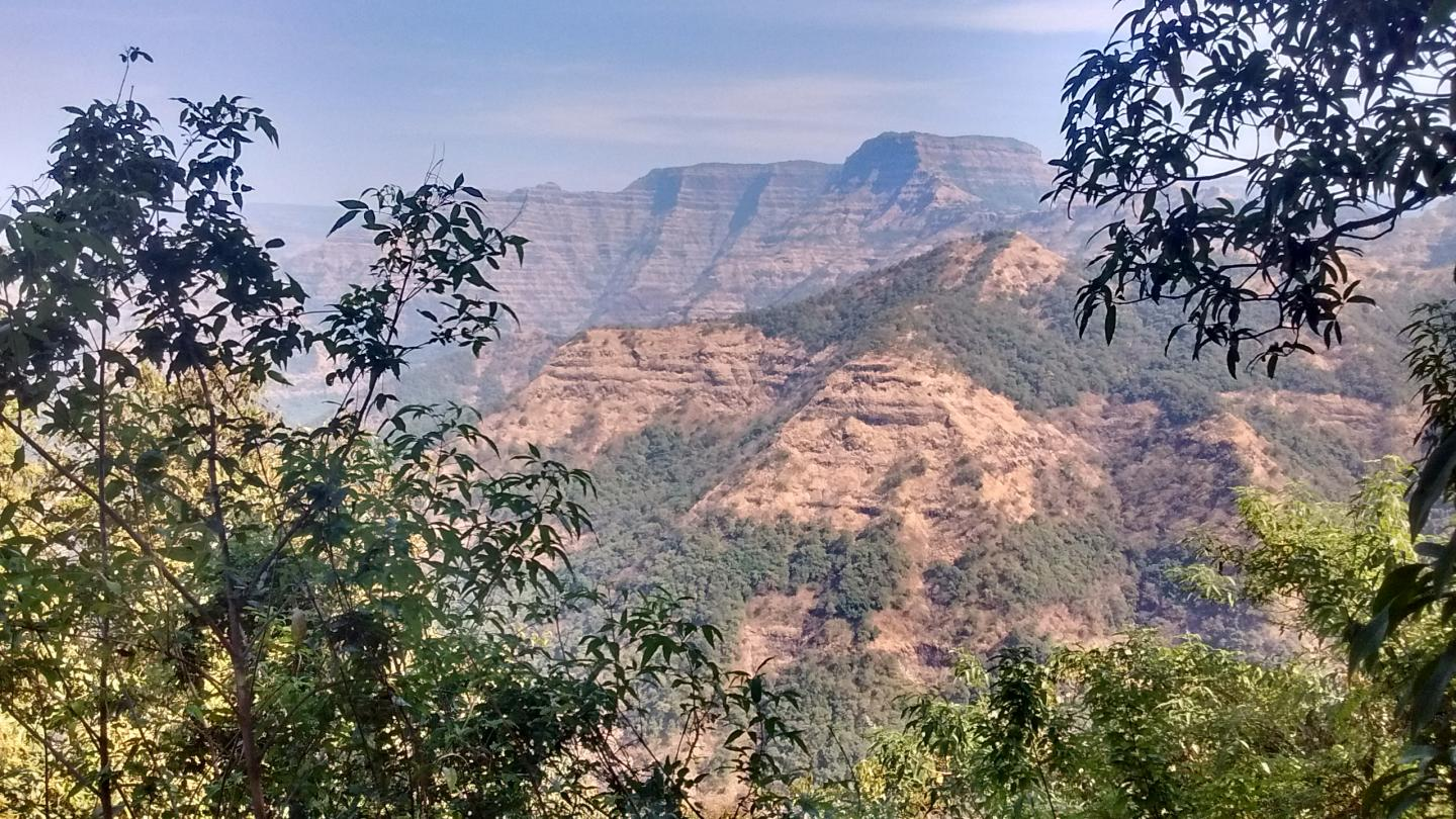Deccan Traps Lava Flows in Western Ghats, India