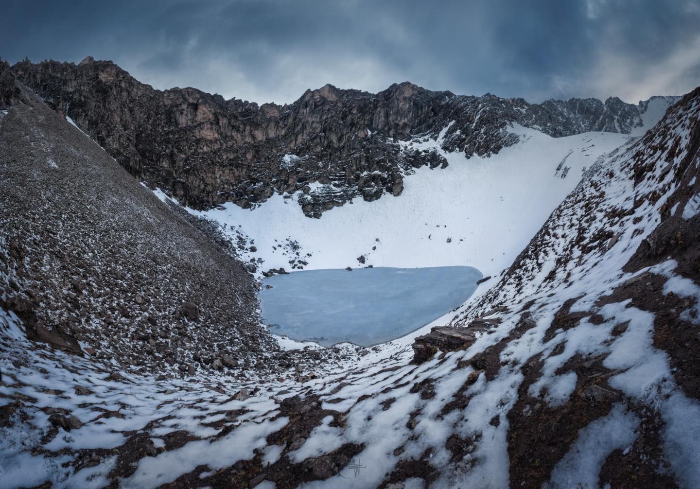 Roopkund Lake and Surrounding Mountains