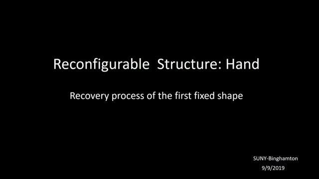 Reconfigurable Structure: Hand
