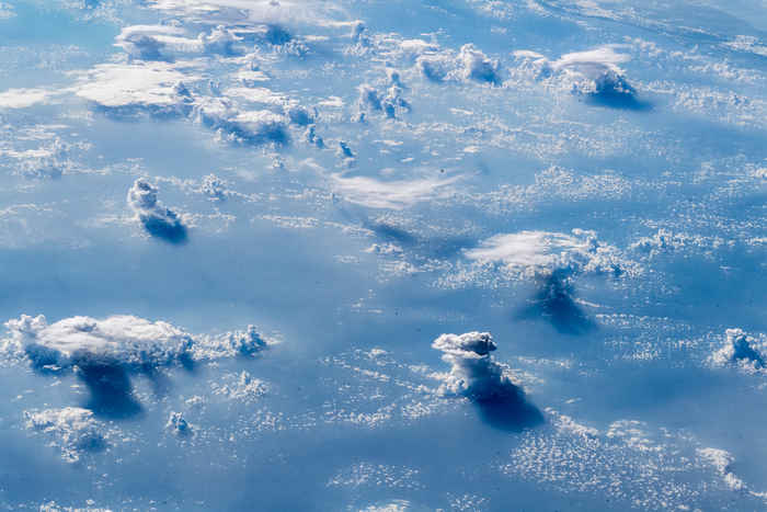 Cloud cover over the ocean