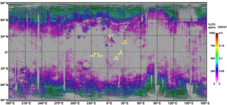 Lunar Water Map