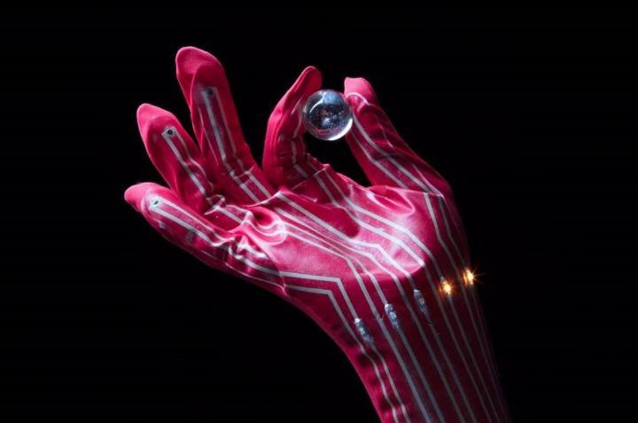 LED-Integrated Pressure-Sensing Glove