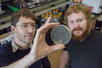 Professor Seppe Kuehn in lab with David T. Fraebel, University of Illinois College of Engineering