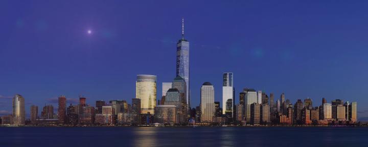 Neutron Star Collision over Manhattan Skyline