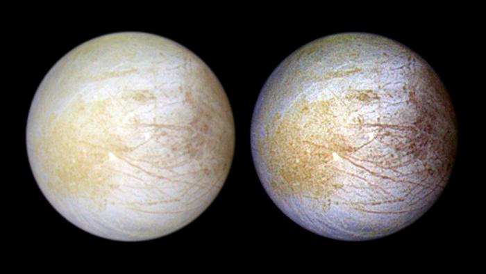 La imagen de Europa de Galileo