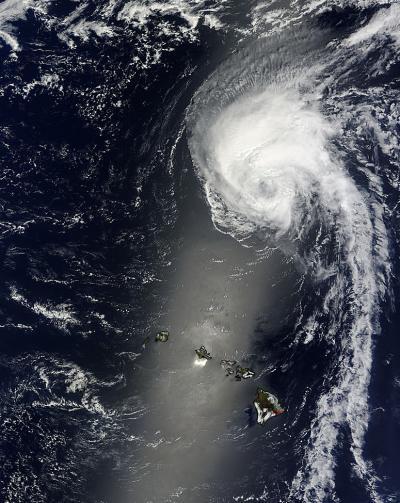Terra Captures Julio North of Hawaii
