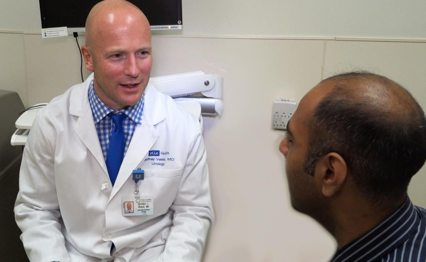 Dr. Veale with Patient