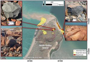 North Gidley Island Figure 5 in Australian Archaeology
