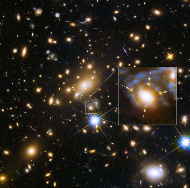 Galaxy Cluster MACS j1149.5+223 and a Supernova 4 Times Over