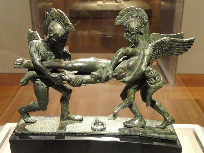 Bronze Etruscan sculpture