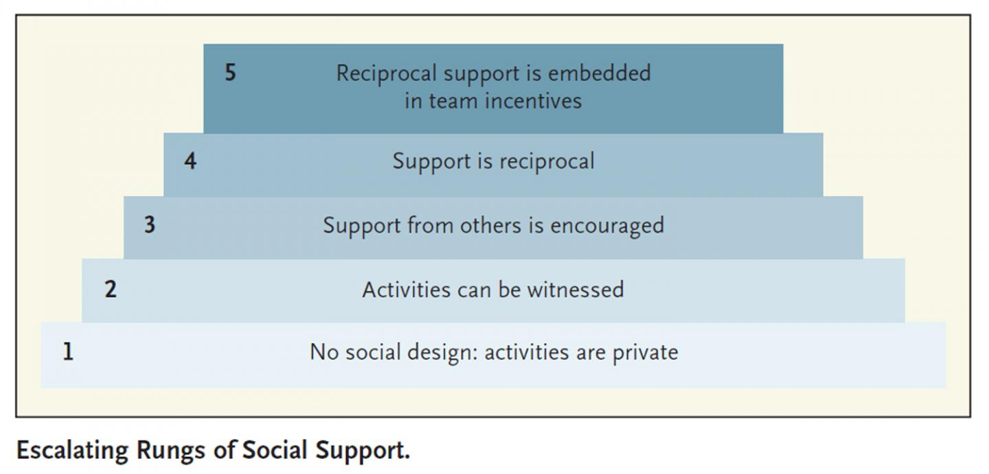 Escalating Rungs of Social Support