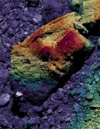 A Boulder on Bennu's Surface