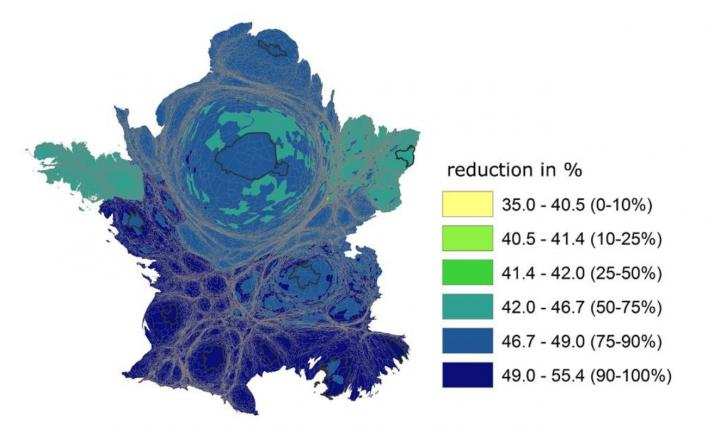 The Potential Impact on Water Resources of Shifting to Healthy Vegetarian Diets -- Example of France