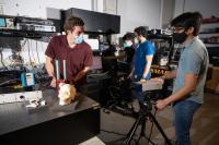 Graduate researchers test skull