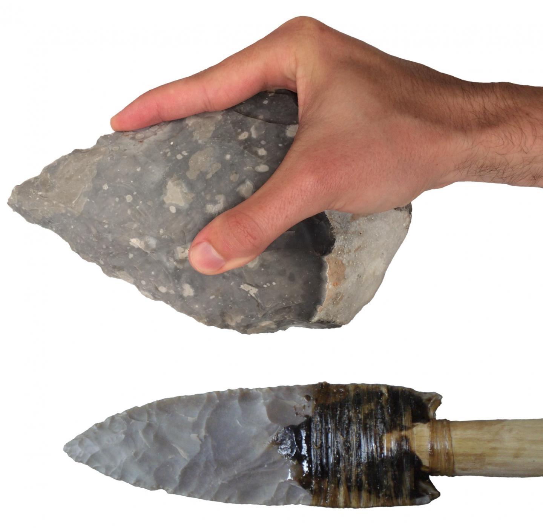 Handaxe and Clovis Point