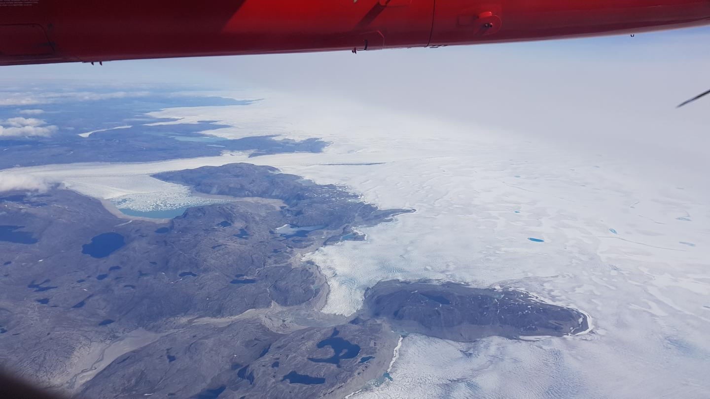 Flying over Greenland Ice Sheet