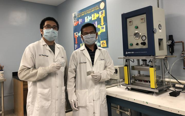 Researchers with Battery