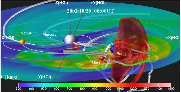 A Coronal Mass Ejection and Magnetic Field with Flux Rope