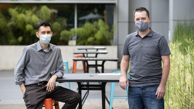 Gladstone scientists Ken Nakamura and Todd McDevitt
